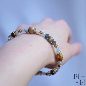 2/60$ bracelet natural agate moss gemstones
